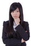 Молодой думать бизнес-леди Стоковая Фотография RF