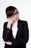 Молодой думать бизнес-леди Стоковое Изображение RF