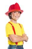 Молодой усмехаться пожарного Стоковые Фото