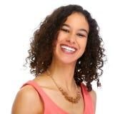 Молодой усмехаясь портрет бизнес-леди стоковое изображение