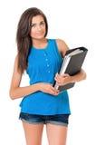 Молодой учитель с папкой стоковое изображение