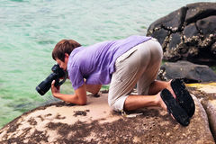 Молодой фотограф стоковая фотография rf