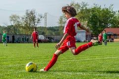 Молодой футболист Стоковая Фотография RF