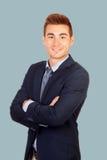 Молодой холодный бизнесмен Стоковое фото RF