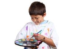 Молодой художник мальчика Стоковая Фотография