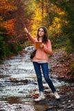 Молодой художник на горе Стоковые Изображения RF