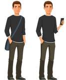 Молодой человек в вскользь одеждах иллюстрация штока