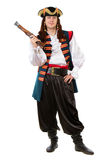 Молодой человек в костюме пирата стоковая фотография rf