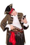 Молодой человек в костюме пирата стоковые фотографии rf