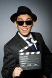 Молодой человек в классике striped костюм и шляпа Стоковое Изображение RF