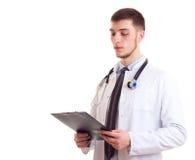 Молодой человек в мантии доктора Стоковое Изображение RF