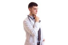 Молодой человек в мантии доктора Стоковое Изображение