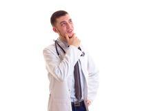 Молодой человек в мантии доктора Стоковое Фото