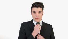 Молодой человек моды стоковая фотография rf