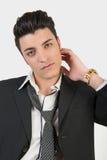 Молодой человек моды стоковое фото rf