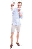Молодой человек принимая selfie Стоковое фото RF