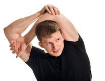 Молодой человек протягивая его руку Стоковое Изображение RF