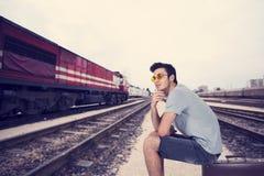 Молодой человек путешественника Стоковая Фотография RF
