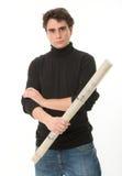 Молодой человек с креном светокопий стоковые фотографии rf