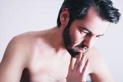 Молодой человек с проблемой Стоковая Фотография RF