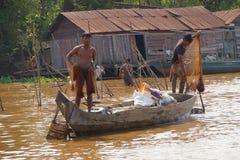 Молодой человек с рыболовной сетью Стоковое Изображение RF
