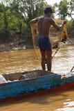 Молодой человек с рыболовной сетью Стоковое Фото