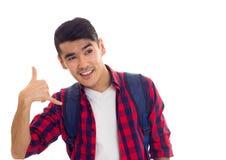 Молодой человек с рюкзаком Стоковое фото RF