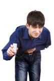 Молодой человек чувствует Stomachache Стоковое Изображение RF