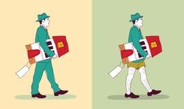 Молодой человек infographics имущества недвижимости expencive с новым домовладельцем бесплатная иллюстрация