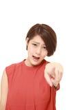 молодой японский бранить женщины стоковая фотография
