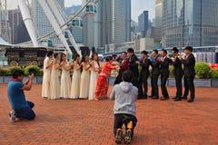 Молодость wedding публично парк Стоковые Изображения RF
