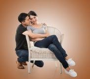 Молодые азиатские пары Стоковая Фотография RF