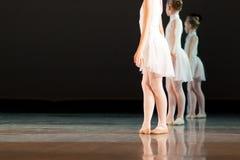 Молодые балерины на этапе Стоковое фото RF