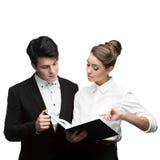 Молодые бизнесмены имея обсуждение Стоковые Изображения RF
