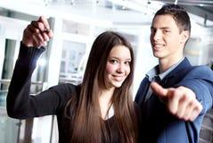Молодые деловые партнеры стоковое изображение