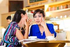 Молодые женщины в азиатской кофейне Стоковое фото RF