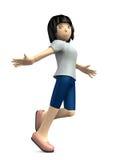 Молодые женщины, который нужно прыгнуть весело иллюстрация штока
