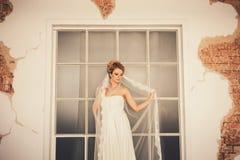 Молодые женщины с платьем свадьбы Стоковые Фото