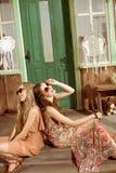 Молодые женщины hippie Стоковые Изображения