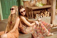 Молодые женщины hippie Стоковые Изображения RF