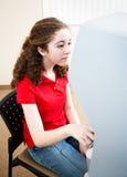 Молодые испанские голосования женщины Стоковые Фото