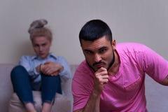 Молодые кавказские пары в конфликте Стоковое Изображение RF