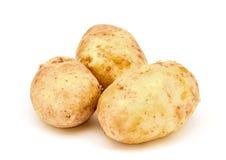 Молодые картошки на белой предпосылке Стоковое фото RF