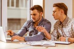 Молодые красивые бизнесмены coworking Стоковое Изображение