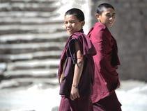 Молодые монахи стоковые изображения