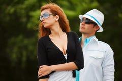 Молодые пары в конфликте Стоковая Фотография RF