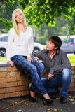 Молодые пары в конфликте Стоковая Фотография