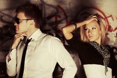 Молодые пары в конфликте Стоковое Фото