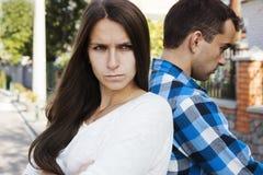 Молодые пары Конфликт Стоковые Фотографии RF