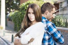 Молодые пары Конфликт Стоковые Изображения RF